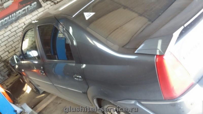 Чип-тюнинг Renault Logan, замена глушителя
