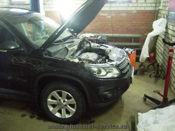 Чип-тюнинг двигателя VW Tiguan 2.0 tsi www.glushitel-service.ru