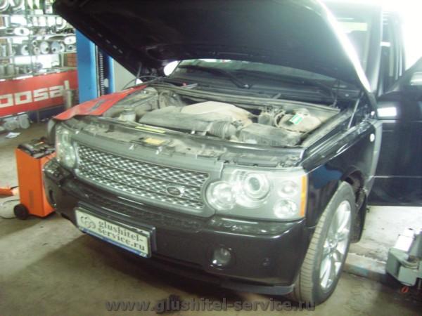 Удаление катализатора Range Rover Supercharged