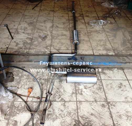 Глушитель из нержавеющей стали на Daewoo Matiz, Глушитель-Сервис Ярославль