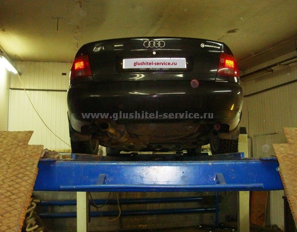 Нержавеющий резонатор на Audi A4