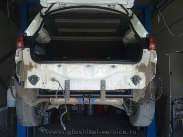 Установка фаркопа на Nissan Qashkai в glushitel-service.ru