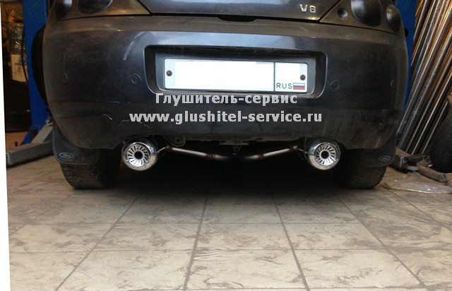 Установка карбоновых глушителей на Ford Cougar