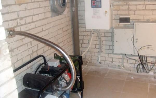 Отвод газов от бензиновых и дизельных генераторов