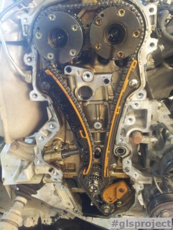 Замена комплекта цепи ГРМ Nissan Juke 1.6T в GLSproject