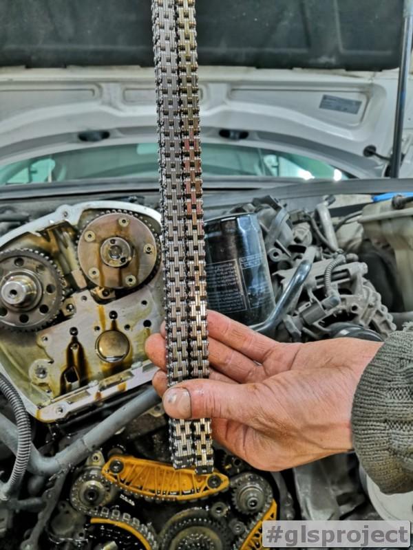 Растянутая цепь ГРМ Audi A4 1.8 TFSI 2010