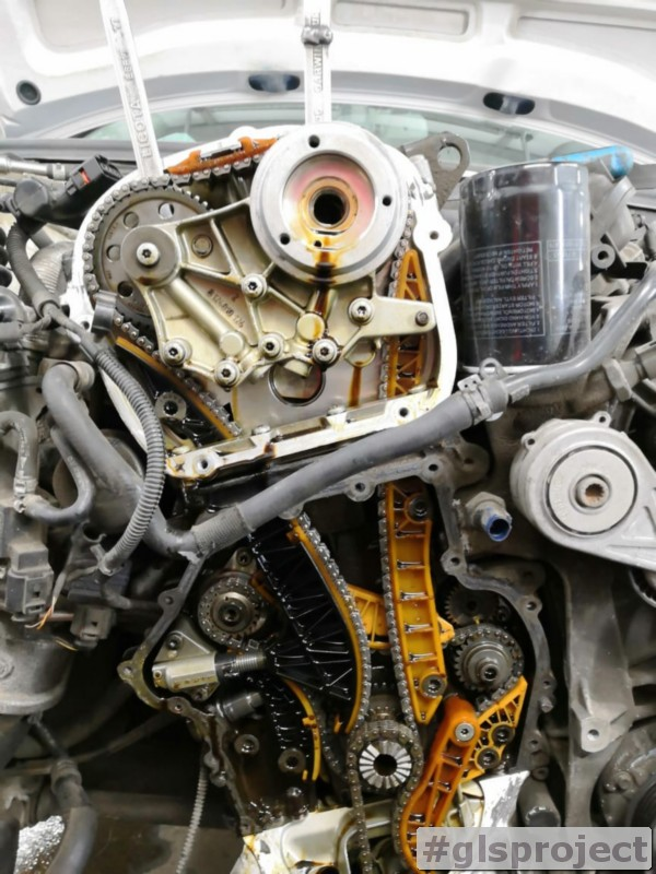 Замена цепей ГРМ Audi A4 1.8 TFSI