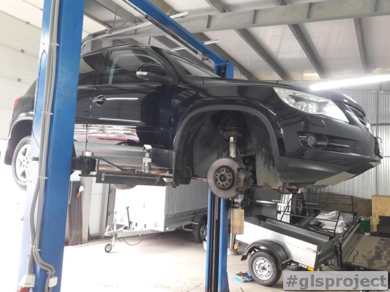 Замена втулок переднего стабилизатора Tiguan в glushitel-service.ru