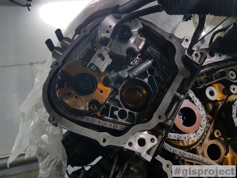 Замена ГРМ левой ГБЦ Audi Q5 3.2 FSI