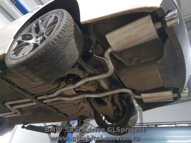 Задняя часть глушителя BMW 535i Xdrive