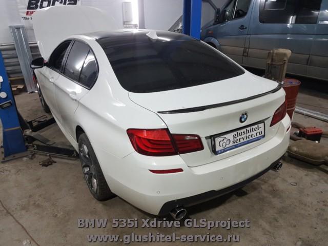 Тюнинг глушителя BMW 535i Xdrive