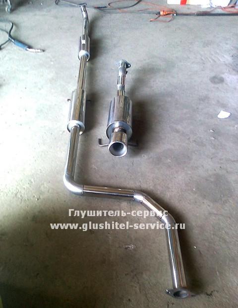 Система выпуска из нержавеющей стали от Honda Civic EG, сделано в Глушитель-Сервисе www.glushitel-service.ru