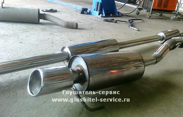 Облегченный глушитель Podveson на Hohda Civic от www.glushitel-service.ru