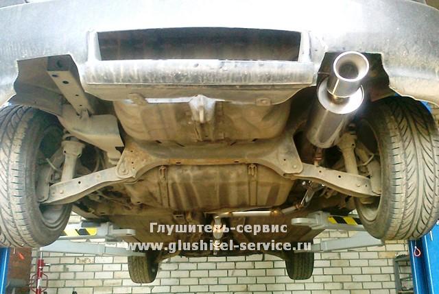 Глушитель из нержавеющей стали на Honda Civic EG, сделано в Глушитель-Сервисе www.glushitel-service.ru