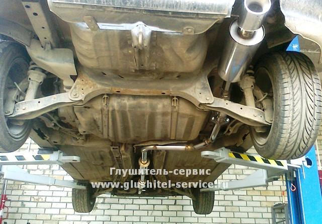 Выхлоп из нержавеющей стали на Honda Civic EG, сделано в Глушитель-Сервисе www.glushitel-service.ru