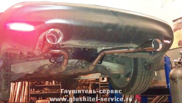 Установка насадок и удаление заднего глушителя на Infinity FX35 glushitel-service.ru