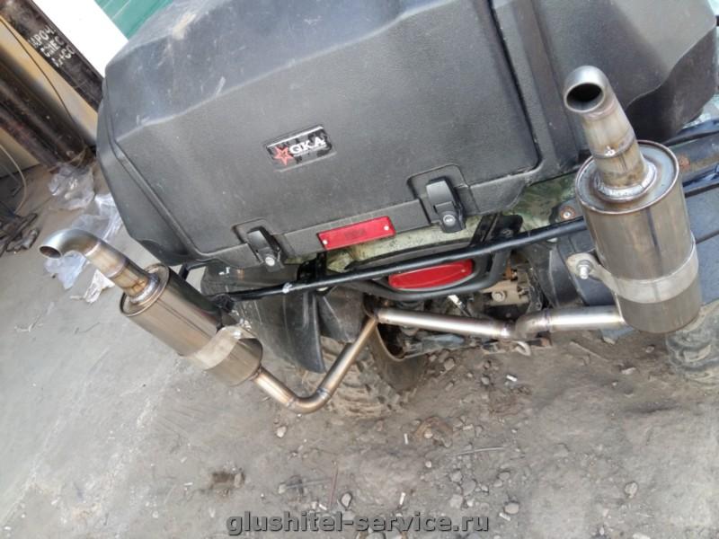 Изготовление прямоточного глушителя на квадроцикл Kawasaki Brute Force
