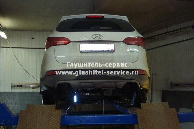 Замена выхлопа на Kia Sorento XM на www.glushitel-service.ru