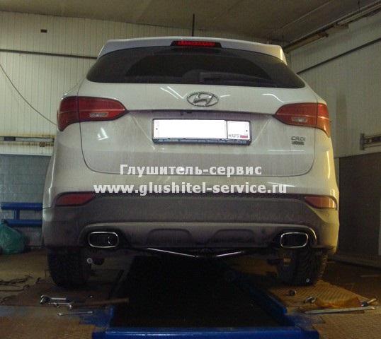 Kia Sorento - система выпуска из нержавеющей стали от www.glushitel-service.ru