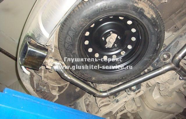 Изготовление выпуска на Kia Sorento XM в Глушитель-сервисе