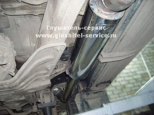 Резонатор из нерж. стали 76 мм на Toyota Land cruiser 80, выпуск под порог. glushitel-service.ru