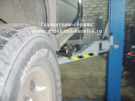 Насадки под порог на Toyota Land cruiser 80, выпуск под порог. glushitel-service.ru