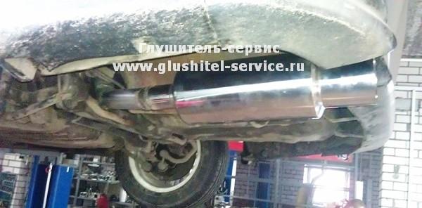 Изготовление прямоточных спортивных систем выпуска из нержавейки на MMC Galant 2.4 GDI от glushitel-service.ru