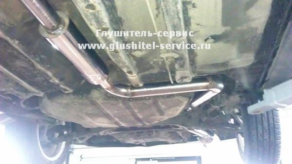 Изготовление прямоточного выпуска на Mitsubishi Galant 2.4 GDI от glushitel-service.ru