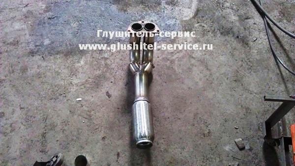 Изготовление приемной трубы из нержавеющей стали на MMC Galant от www.glushitel-service.ru