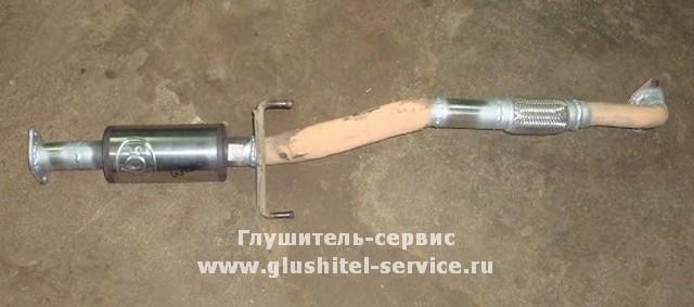Ремонт приемной трубы MMC Lancer 9 в Глушитель-сервисе www.glushitel-service.ru