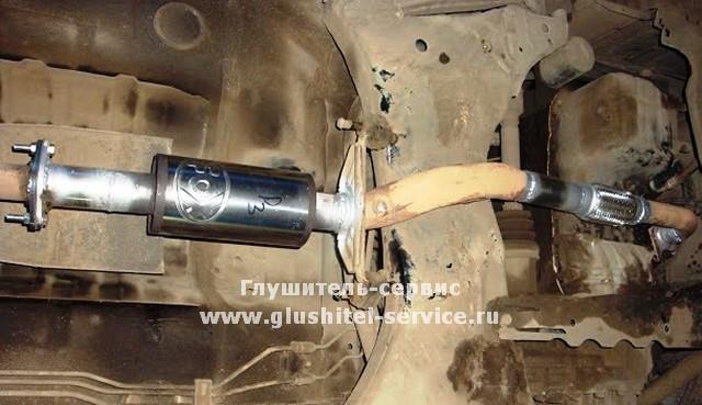 Замена гофры и второго катализатора на MMC Lancer 9 в Глушитель-сервисе www.glushitel-service.ru