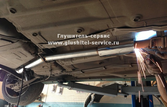 Ремонт глушителя Opel Astra OPC в www.glushitel-service.ru
