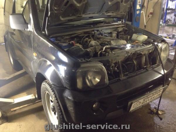 подогреватель Defa на двигатель Suzuki Jimny