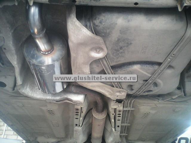 Прямоточный глушитель на Ford Focus, установка в Глушитель-Сервисе Ярославль