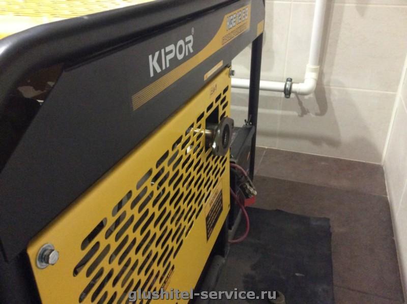 Система выхлопа бензогенератора Kipor KGE12E3