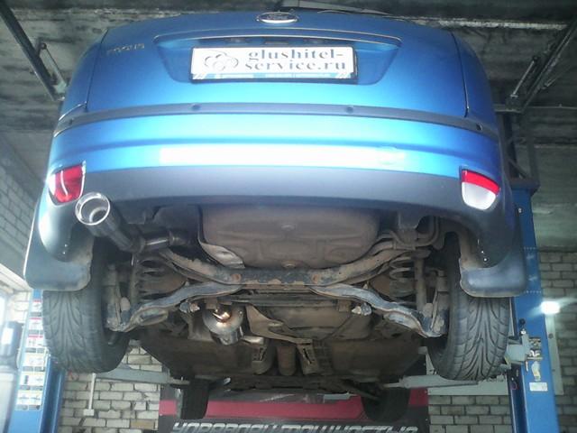 Спортивный глушитель на Ford Focus, установка в glushitel-service.ru