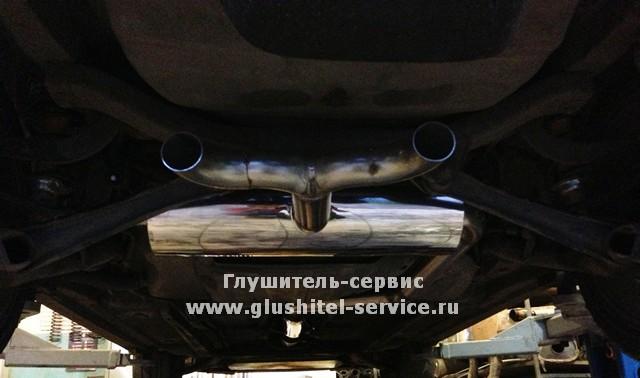 Разводка глушителя Toyota Celica GT-S на две стороны в Глушитель-сервисе www.glushitel-service.ru, podveson motor squad