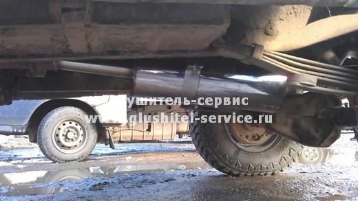 Установка системы выпуска из нерж. стали на УАЗ