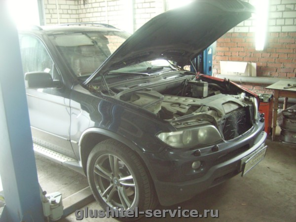 Удаление сажевого фильтра у BMW X5 E53