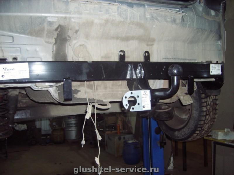 Установка фаркопа Avto SHY23 на Hyundai Solaris