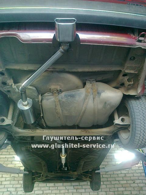 Глушитель из нержавейки в центр бампера на VW Jetta 1984 от www.glushitel-service.ru