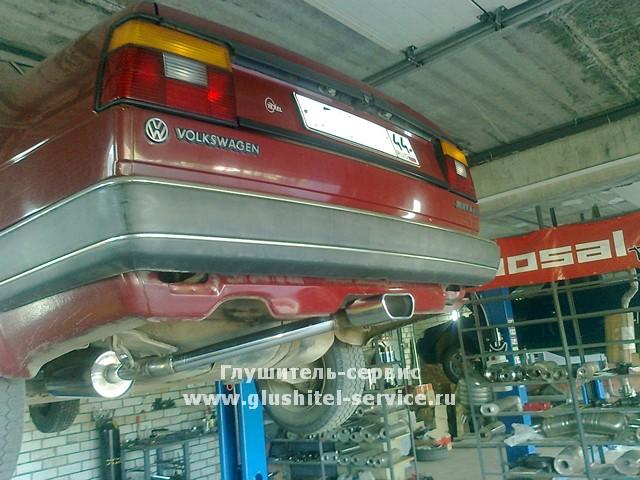 Система выпуска в центр бампера на VW Jetta 1984 от www.glushitel-service.ru