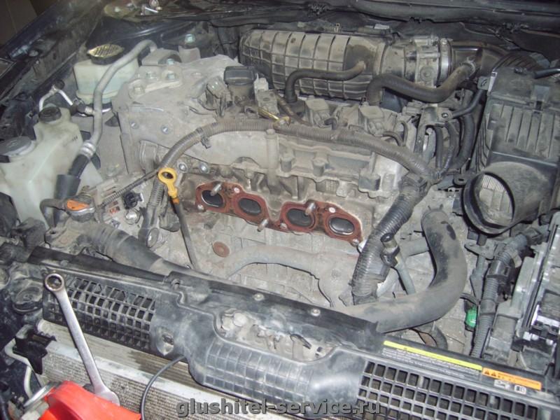 выхлопная система на Nissan Teana