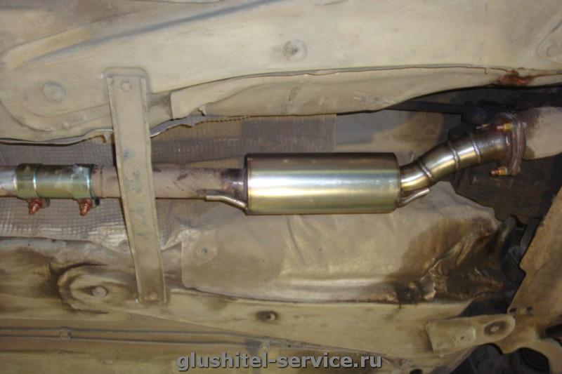 Замена катализатора  на пламегаситель на Audi A4