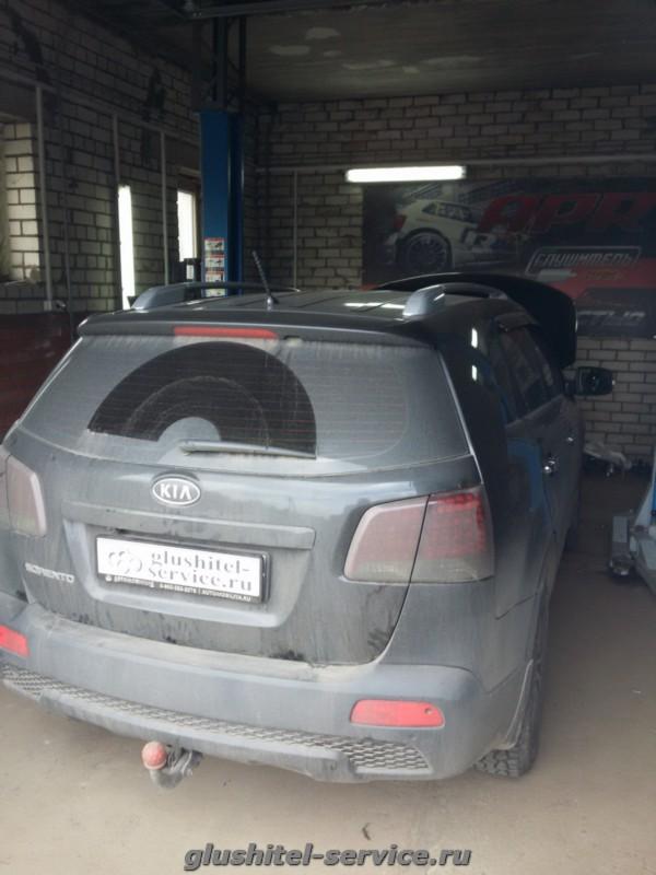 Замена катализаторов на пламегасители у Kia Sorento